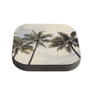 Kess InHouse Catherine McDonald 'Boho Palms' Coastal Trees Coasters (Set of 4)