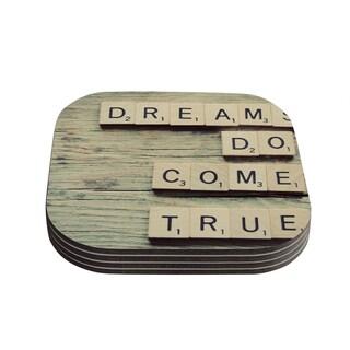 Kess InHouse Cristina Mitchell 'Dreams' Wood Coasters (Set of 4)