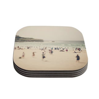 Kess InHouse Catherine McDonald 'Bondi Beach' Coastal People Coasters (Set of 4)