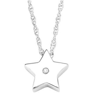 Sterling Silver Black Diamond Star Pendant