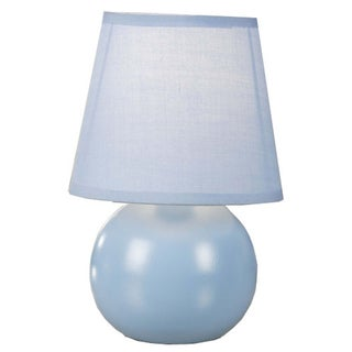 Normande Lighting HE3-1152-BL Blue Accent Table Lamp with Bulb