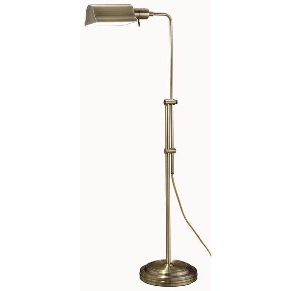 Normande Lighting JS3-729 Antique Brass Floor Lamp
