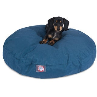 Solid Outdoor Indoor Round Dog Bed by Majestic Pet