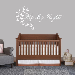 Fly By Night Wall Decal (60-inch wide x 30-inch tall)