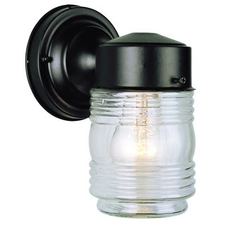 Bel Air Lighting CB-4900-BK 4-inch Black Jelly Jar Outdoor Light Fixture