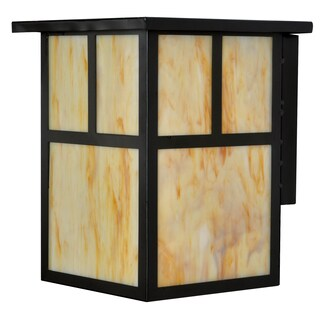Bel Air Lighting CB-60009 1 Light Porch Light With Marbled Honey Glass