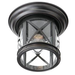 Bel Air Lighting CB-5128-ROB 11-inch Rubbed Oil Bronze Coastal Flushmount Fixture
