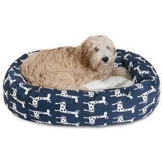 Majestic Pet Stretch Sherpa Bagel Large/ Extra Large Dog Bed with Removable Washable Cover