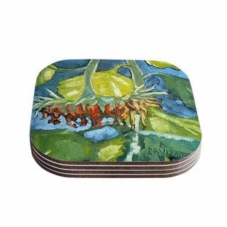 Kess InHouse Carol Schiff 'Summer's End' Blue Green Coasters (Set of 4)