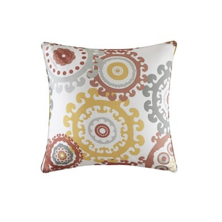 Madison Park Carmel Coral Multi Printed Medallion 3M Scotchgard Indoor-Outdoor Pillow 20-inch