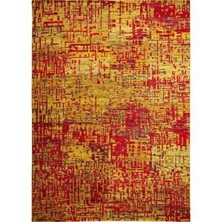 Sari Silk Leigh Gold Hand-knotted Rug (8'9 x 11'9)