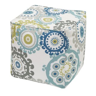 Madison Park Carmel Printed Medallion 3M Scotchgard Outdoor Pouf