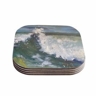 Kess InHouse Carol Schiff 'The Crest' Nautical Painting Coasters (Set of 4)