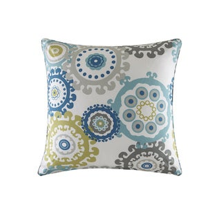 Madison Park Carmel Blue Multi Printed Medallion 3M Scotchgard Indoor-Outdoor Pillow 26-Inch