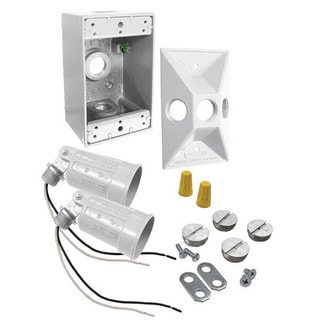 Bell Outdoor 5818-6 75 To 150 Watt White Rectangular Dual Lampholder Kits