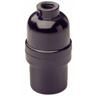 Leviton 0001-95080-000 1/8 IPS 660 W Black Phenolic Shell Incandescent Lampholder