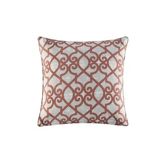 Madison Park Crystal Coral Printed Fretwork 3M Scotchgard Indoor-Outdoor Pillow 20-Inch