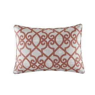 Madison Park Crystal Coral Printed Fretwork 3M Scotchgard Indoor-Outdoor Pillow