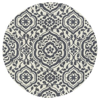 Runway Charcoal/Ivory Damask Hand-Tufted Wool Rug (11'9 Round)|https://ak1.ostkcdn.com/images/products/11805522/P18713754.jpg?_ostk_perf_=percv&impolicy=medium