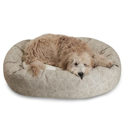 Majestic Pet Charlie Sherpa Bagel Large/ Extra Large Dog Bed with Removable Washable Cover