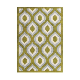 Alliyah Ogee Pure Wool Moroccan Eye-catching Handmade Blended Area Rug Made in New Zealand (5'x8')
