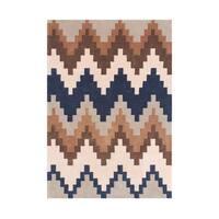 Alliyah Rugs New Zealand Wool Chevron Borderless Area Rug - 5' x 8'