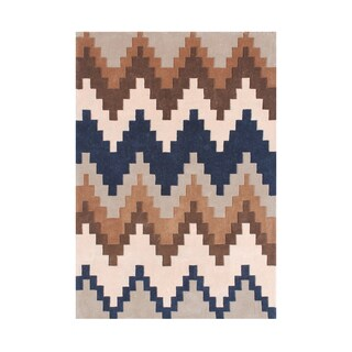 Alliyah Rugs New Zealand Wool Chevron Borderless Area Rug (5'x8')