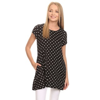 MOA Collection Women's Polka Dot Tunic Top