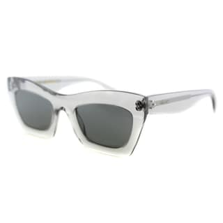 Celine CL 41399 RDN Grey Transparent Plastic Cat-Eye Grey Lens Sunglasses