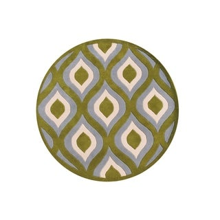 Alliyah Handmade 8-foot Round Ogee Area Rug