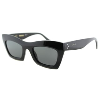 Celine CL 41399 807 Black Plastic Cat-Eye Grey Lens Sunglasses