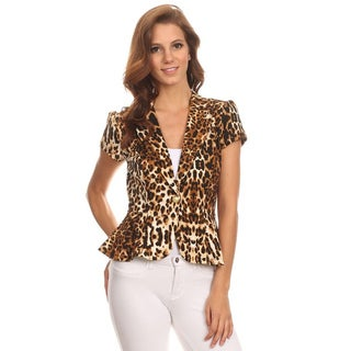 MOA Collection Women's Leopard Blazer-style Jacket (3 options available)