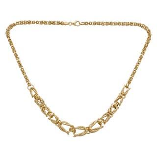 Decadence 14k Yellow Gold Graduated 4-11mm Byzantine Necklace