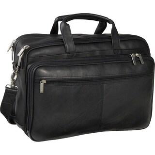 LeDonne Leather Dual-compartment Laptop Briefcase