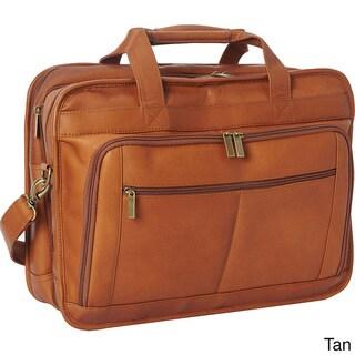 LeDonne Oversized Leather Laptop Briefcase