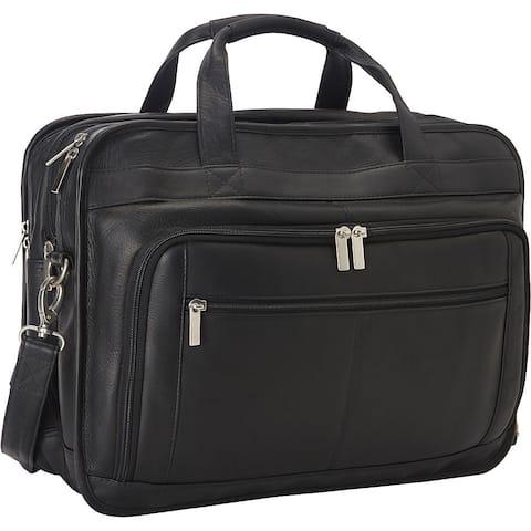 LeDonne Leather Oversized Leather Laptop Briefcase