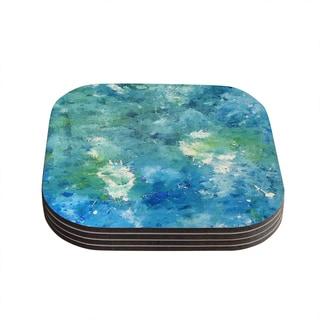 Kess InHouse CarolLynn Tice 'Sporatically' Teal Green Coasters (Set of 4)