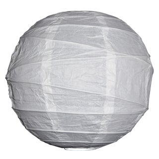 Asian Import Store Distribution 20IRR-WH 20-inch White Irregular Ribbing Paper Lantern