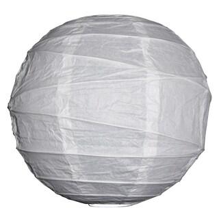 Asian Import Store Distribution 20IRR-WH 20-inch White Irregular Ribbing Paper Lantern