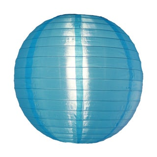 Asian Import Store Distribution 14NYL-SBL 14-inch Sky Blue Nylon Lantern