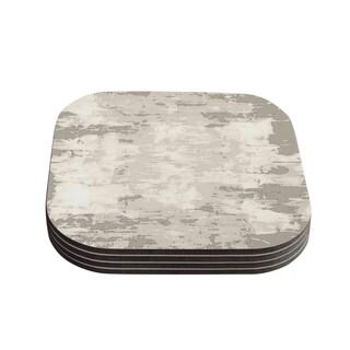Kess InHouse CarolLynn Tice 'Secluded' Brown Tan Coasters (Set of 4)