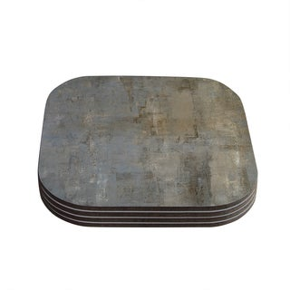 Kess InHouse CarolLynn Tice 'Overlooked' Brown Gray Coasters (Set of 4)