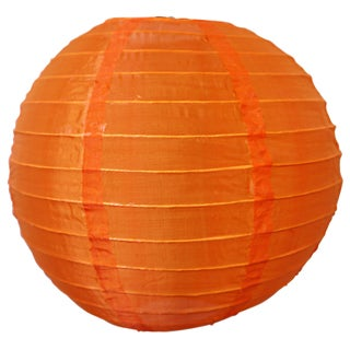 Asian Import Store Distribution 10NYL-OR 10-inch Orange Nylon Lantern