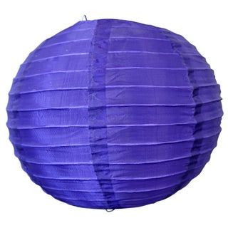 Asian Import Store Distribution 10NYL-DPU 10-inch Purple Nylon Lantern
