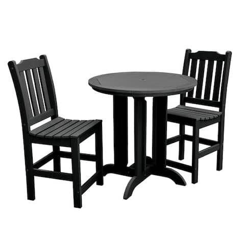 Highwood Lehigh 3-piece Round Counter-height Dining Set