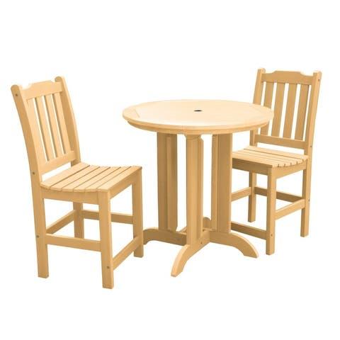 Highwood Lehigh 3-piece Round Counter-height Dining Set