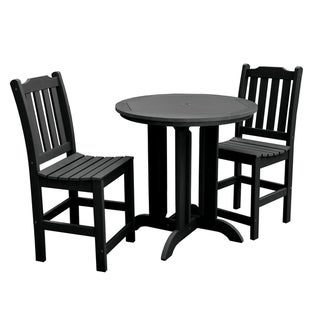 Lehigh 3-piece Round Counter-height Dining Set