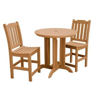 Lehigh 3-piece Round Counter-height Dining Set