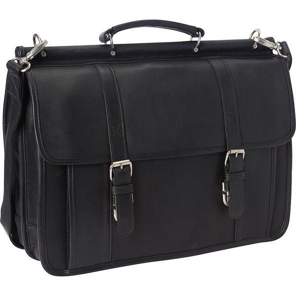 263778ebdffb Shop LeDonne Leather Classic Dowel Rod Laptop Briefcase - Free ...