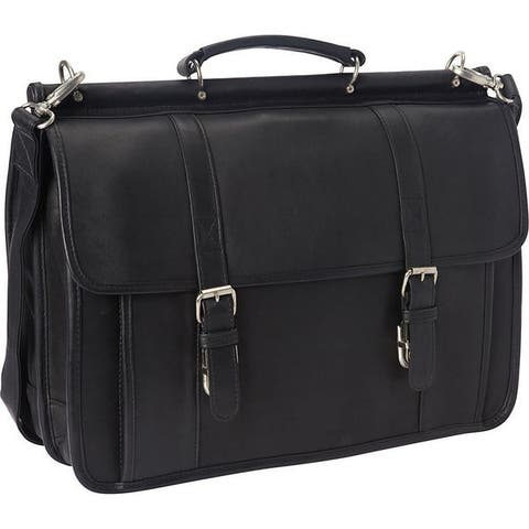 LeDonne Leather Classic Dowel Rod Laptop Briefcase